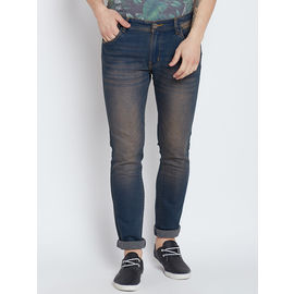 Stylox Premium Men's Stretchable Slim Fit Blue Washed Jeans-DNM-RSTW-4093, 28