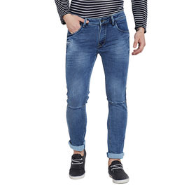 Stylox Premium Men's Stretchable Slim Fit Dark Blue Washed Jeans-DNM-DB-4085-02, 36