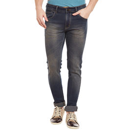 Stylox Men's Premium Skinny Fit Mid Rise Cleans Look Stretchable Light Brown Jeans-DNM-BRN-4082-02, 32