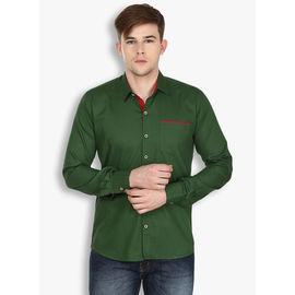 Stylox Olive Green Casual Shirt(SHT025), 42