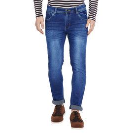 Stylox Men' s Premium Slim Fit Blue Washed Stretchable Jeans-DNM-BLW-4113, 36