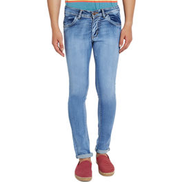 Stylox Men's Premium Stretchable Slim Fit Casual Wear Mid Rise Shaded Jeans-DNM-CHN-4046, 36