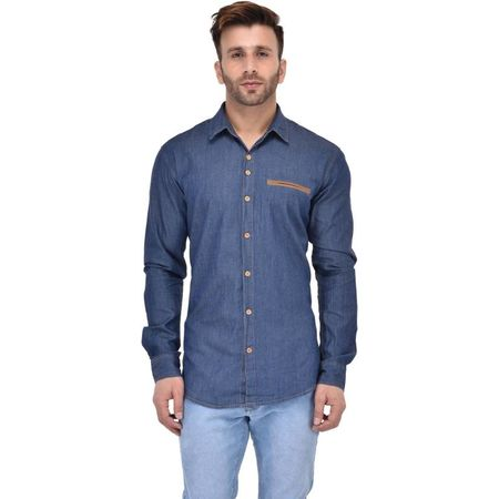 Stylox Men s Solid Casual Dark Blue Shirt - SHT-ZPRK-DB, m