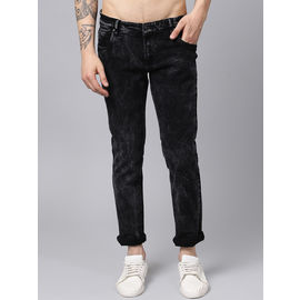 Stylox Men Black Slim Fit Mid Rise Casual Wear Jeans-DNM-BLCKLD-4136-01, 28
