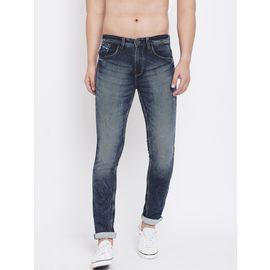 Stylox Men Slim Fit Stretchable Black Jeans 5901-1285, 36
