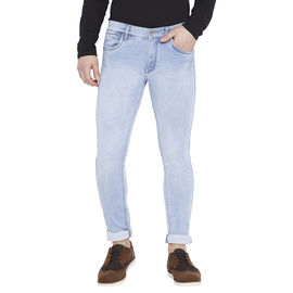 Stylox Men's Dark Blue Slim Fit Mid Rise Stretchable Jeans-DNM-IB-4087-01, 32