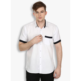 Stylox White Half Sleeve Casual Cotton Shirt(SHT033), 46