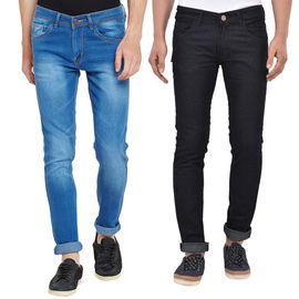 Stylox Men's Stylish Slim Fit MultiColor Casual Wear Jeans-DNM-COMBO-1012-1003, 36