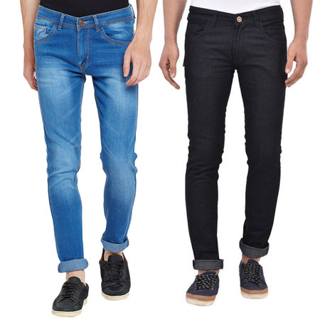 Stylox Men s Stylish Slim Fit MultiColor Casual Wear Jeans-DNM-COMBO-1012-1003, 36