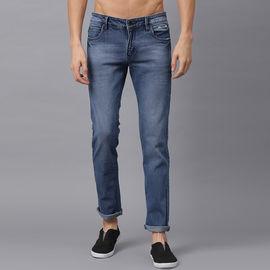 Stylox Men Mid Rise Blue Whisker Jeans-DNM-LB-4136-02, 36