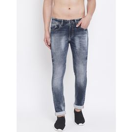 Stylox Men Slim Fit Distressed Stretchable Jeans 5901-1291, 34