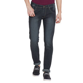 Stylox Men's Stylish Premium Stretchable Comfort Fit Mid Rise Light Shaded Mehandi Jeans-DNM-GRN-4083, 32