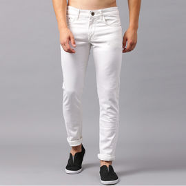 Stylox White Slim Fit Stretchable Jeans for Men-DNM-WHITE-4147, 30