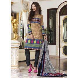 Cotton Suits - Beige Churidar Salwar Kameez