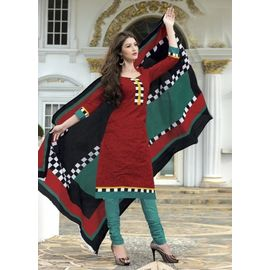 New Stylish Daily Wear Maroon Cotton Salwar Suit with Dupatta