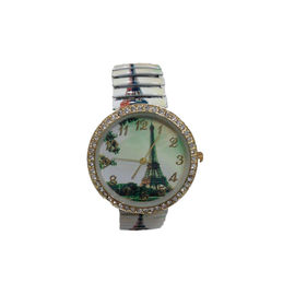 MULTICOLOR PRINTED Green Eiffel Tower SPRING STRAP WOMEN WATCH 2015 FASHION DESIGNER