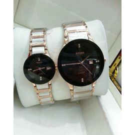Imported RADO Jublie DaiStar SILVER And COPPER And BLACK Couple Watch