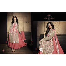 Shilpa shetty Pink Embroiedered Top n Dupatta With stone work