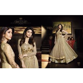 Shilpa shetty's Net embroieded Anarkali With Georgette Inner with Stone Work