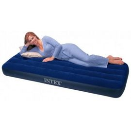Intex Single Bed Velvet Finish Inflatable Air Bed for Camping Outdoor parties