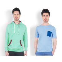 DUSG Men's Hooded Sweatshirt & T-Shirt Combo Pack, m