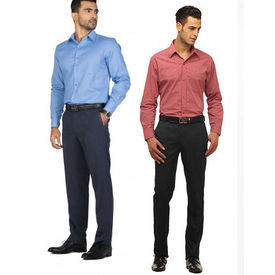 Combo of 2 Export Surplus Branded Formal Shirt and Formal Paints, 32, s