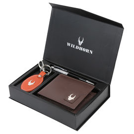 WILDHORN BROWN NEW HIGH QUALITY GENUINE MEN' S LEATHER GIFT COMBO 005