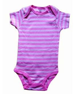 Carter's Pink & White Striped bodysuit, 12 months