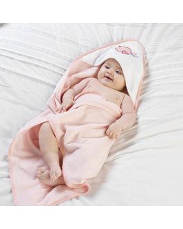 Pink Bird - Cuddle Robe & Wash Mitt