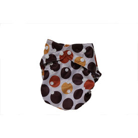 BumChum Cloth Diaper Cover With Snap On Insert -Chocolate Scoop