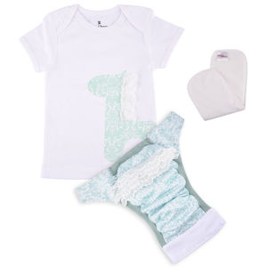 Bdiapers Diaper Cover+ T-shirt Set with 1 Insert, Sophie, medium  6-11 months