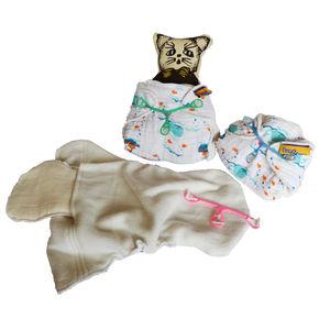 BumChum Organic Muslin Newborn Diaper+ Snappi (Set of 3), baby boy