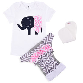 Bdiapers Diaper Cover+ T-shirt Set with 1 Insert, Elsie