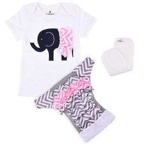 Bdiapers Diaper Cover+ T-shirt Set with 1 Insert, Elsie, small  3-6 months