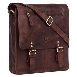 WildHorn New Hi-Quality 100% Genuine Leather Sling Messenger Bag DIMENTION: L-11.5INCH W-3INCH H-13.5INCH