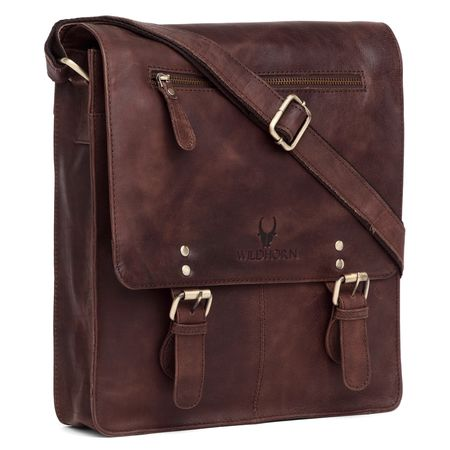 WildHorn New Hi-Quality 100% Genuine Leather Sling Messenger Bag DIMENTION: L-11.5INCH W-3INCH H-13.5INCH