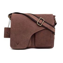 WildHorn Leather Messenger Bag 204 DIMENSION: L- 11inch H- 9.5inch W- 3inch