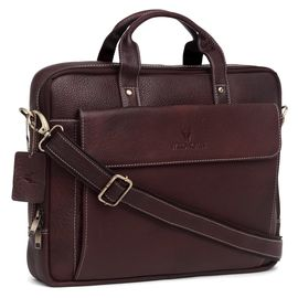 WildHorn 100% Genuine Leather (16inch) Laptop Messenger Bag DIMENSION L-16inch W-3inch H-12inch