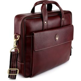 WildHorn Leather Laptop Bags DIMENSION: L- 13.5inch H- 10.5inch W- 3inch