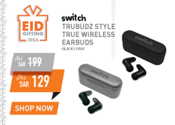 SWITCH TRUBUDZ STYLE TRUE WIRELESS EARBUDS
