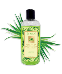 Synaa Aloe Vera Body wash - Skin Moisturising with Natural Skin Care 400 ml