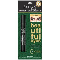 Synaa Premium Pencil Eyeliner - Black-1 (Pack of 2 - 2x1.14g)