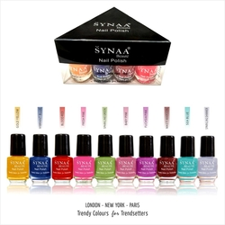 Synaa Nail Polish Set of 10 Pieces - Multicolor Set# 3 (240g)