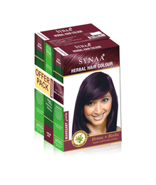 Synaa Herbal Hair Color Mahogany, Henna+ Herbs - No PPD (Pack of 3 - 240g)