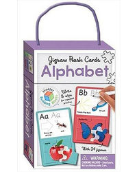 Alphabet Building Blocks Jigsaw Flash Cards