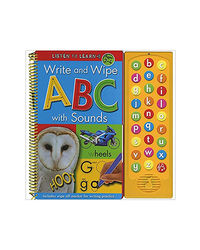 Write And Wipe Abc With Sounds: Listen To Learn