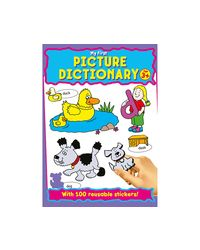My First Picture Dictionary Age 3+ With 100 Reusable Stickers