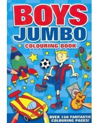 Boys jumbo colouring book