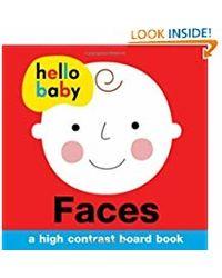 Hello Baby: Faces: A High- Contrast Board Book