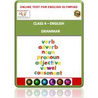Class 4, Grammar, Online test for English Olympiad